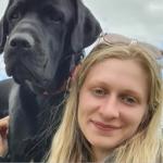 Natasha with lab